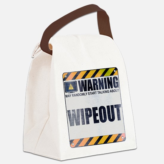 Warning: Wipeout Canvas Lunch Bag