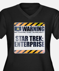 Warning: Star Trek: Enterprise Women's Dark Plus S