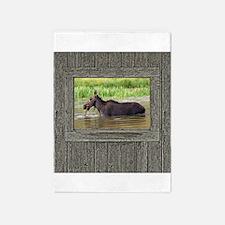 Cow moose 5'x7'Area Rug