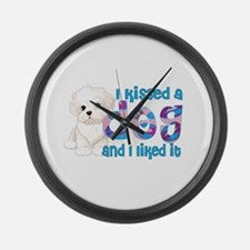 Shelter rescue dogs Large Wall Clock