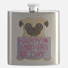 Mother's Day Pug Flask