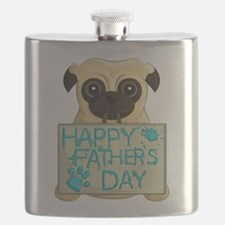 Father's Day Pug Flask