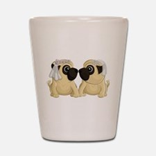 Pug Brides Shot Glass