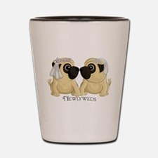 Newlywed Pug Brides Shot Glass