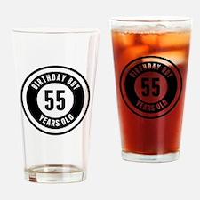 Birthday Boy 55 Years Old Drinking Glass