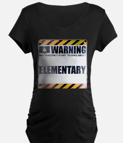 Warning: Elementary Dark Maternity T-Shirt