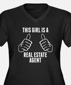 This Girl Is A Real Estate Agent Plus Size T-Shirt