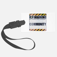 Warning: Community Luggage Tag