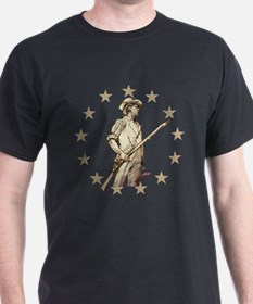Concord Minuteman Drawing T-Shirt