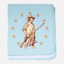 Concord Minuteman Drawing baby blanket