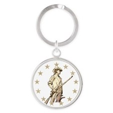 Concord Minuteman Drawing Keychains
