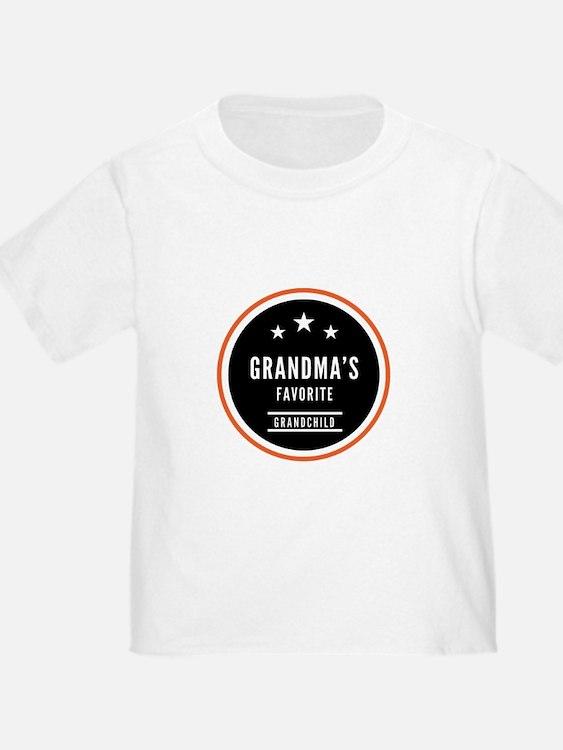 Grandmas Favorite Grandchild T-Shirt