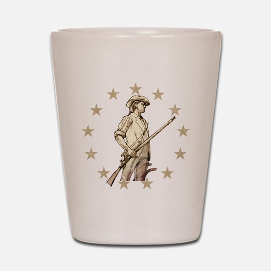 Concord Minuteman Drawing Shot Glass