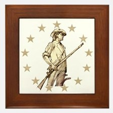 Concord Minuteman Drawing Framed Tile
