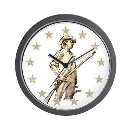 Concord Minuteman Drawing Wall Clock by alphax