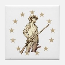Concord Minuteman Drawing Tile Coaster