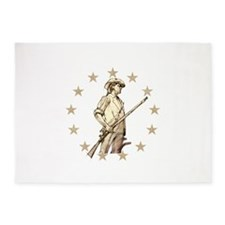 Concord Minuteman Drawing 5'x7'Area Rug