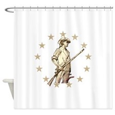 Concord Minuteman Drawing Shower Curtain