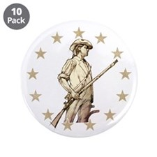 """Concord Minuteman Drawing 3.5"""" Button (10 pack)"""