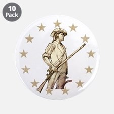 "Concord Minuteman Drawing 3.5"" Button (10 pack)"