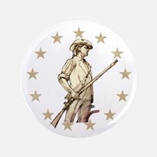 Concord Minuteman Drawing Button