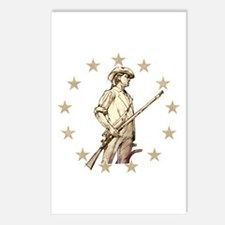 Concord Minuteman Drawing Postcards (Package of 8)