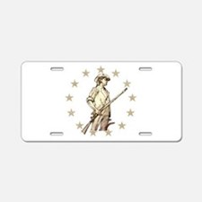 Concord Minuteman Drawing Aluminum License Plate