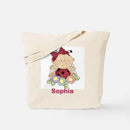 Sophias Ladybug Personalized Gifts Tote Bag