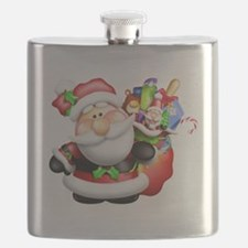 santa and his sack of Flask