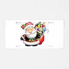 santa and his sack of Aluminum License Plate