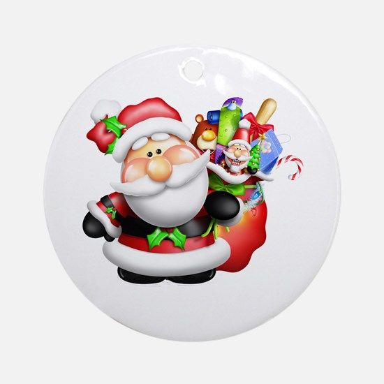 santa and his sack of Ornament (Round)