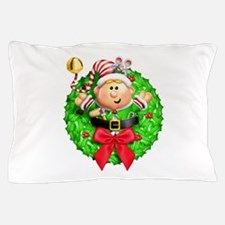 Santa's Elf Wreath Pillow Case