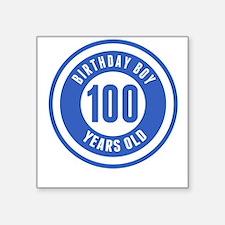 Birthday Boy 100 Years Old Sticker