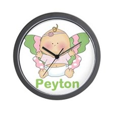 Peytons Buttefly Baby Personalized Wall Clock