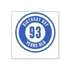Birthday Boy 93 Years Old Sticker