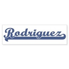 Rodriguez (sport-blue) Bumper Bumper Sticker
