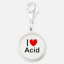 Acid Silver Round Charm