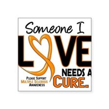 "Cute Cure multiple sclerosis ms Square Sticker 3"" x 3"""