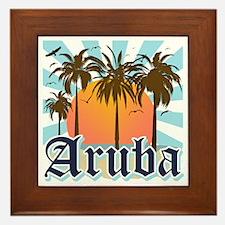 Aruba Caribbean Island Framed Tile