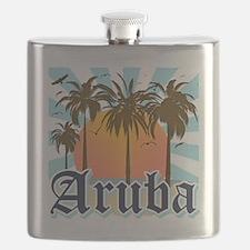 Aruba Caribbean Island Flask