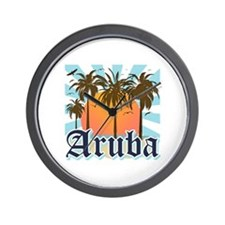 Aruba Caribbean Island Wall Clock