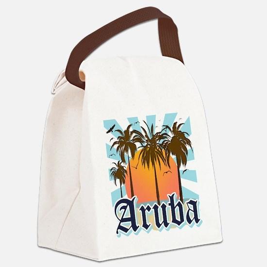 Aruba Caribbean Island Canvas Lunch Bag