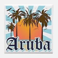 Aruba Caribbean Island Tile Coaster