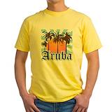 Caribbean Mens Yellow T-shirts