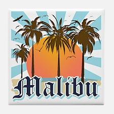 Malibu California Tile Coaster