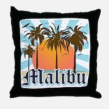 Malibu California Throw Pillow