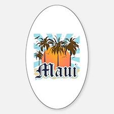 Maui Hawaii Sticker (Oval)