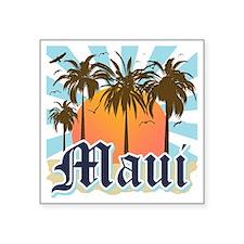 """Maui Hawaii Square Sticker 3"""" x 3"""""""