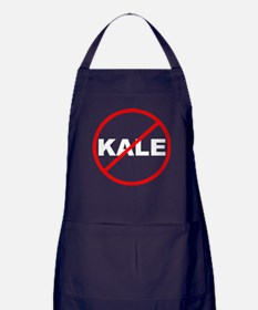 No Kale White Apron (dark)