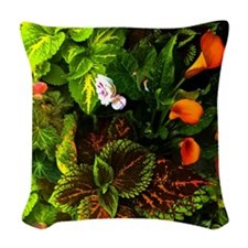 Callas In Orange Woven Throw Pillow